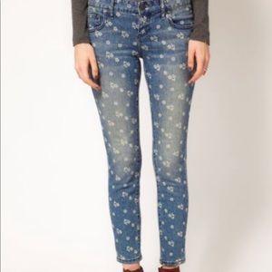 Free people skinny flower jeans